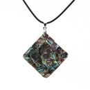Alloy Fashion Geometric necklace  Square NHYL0120Square
