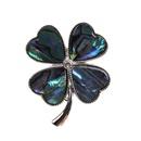 Alloy Fashion Flowers brooch  Fourleaf clover NHYL0195Fourleafclover