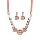 Alloy Korea  necklace  61172414 rose alloy NHXS178561172414rosealloy