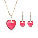 Alloy Fashion  necklace  61172388 red NHXS179361172388red