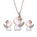 Alloy Korea  necklace  61172418 rose alloy NHXS179561172418rosealloy
