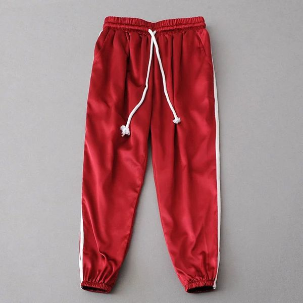 Polyester Fashion  pants  (red-S) NHAM4966-red-S