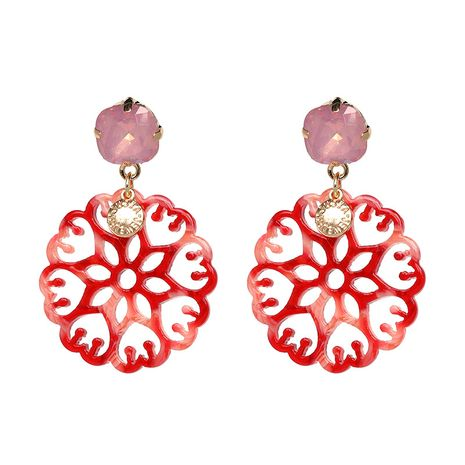 Plastic Fashion Flowers earring  (red) NHJJ5199-red's discount tags