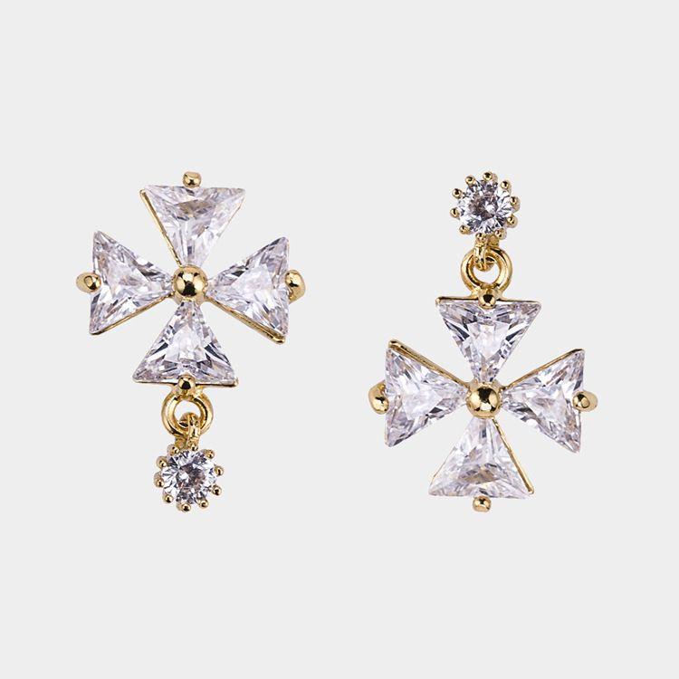Alloy Korea Geometric earring  (Alloy) NHYT1209-Alloy