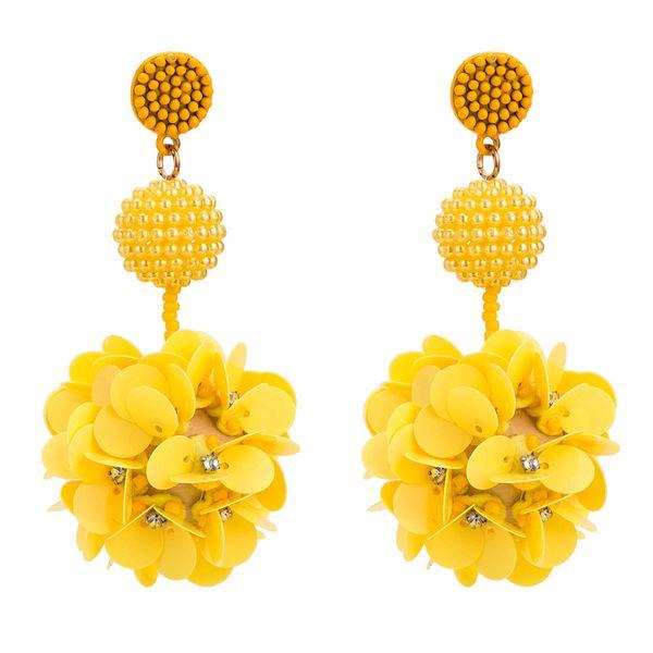 Acrylic Fashion Flowers earring  (yellow) NHYT1219-yellow