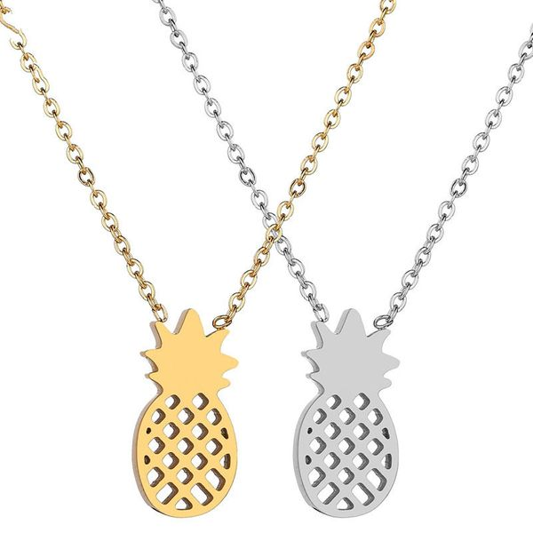 Titanium&Stainless Steel Simple Geometric necklace  (Steel color) NHHF1046-Steel-color