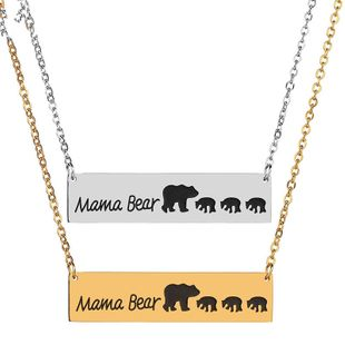 Titanium&Stainless Steel Fashion Animal necklace  (Steel color) NHHF1079-Steel-color's discount tags