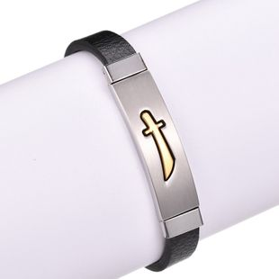 Titanium&Stainless Steel Fashion Geometric bracelet  (Alloy) NHHF1086-Alloy's discount tags