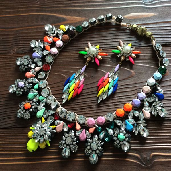 Alloy Fashion Flowers necklace  (Mixed color) NHTH0102-Mixed-color