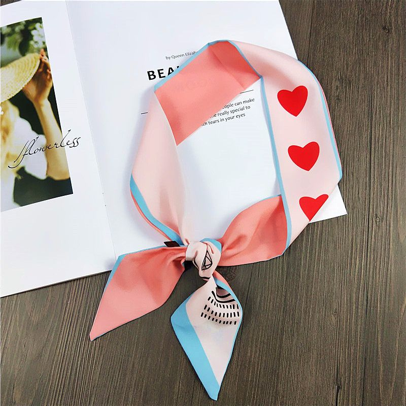 Alloy Korea  Scarf  (1 love pink blue) NHMN0023-1-love-pink-blue