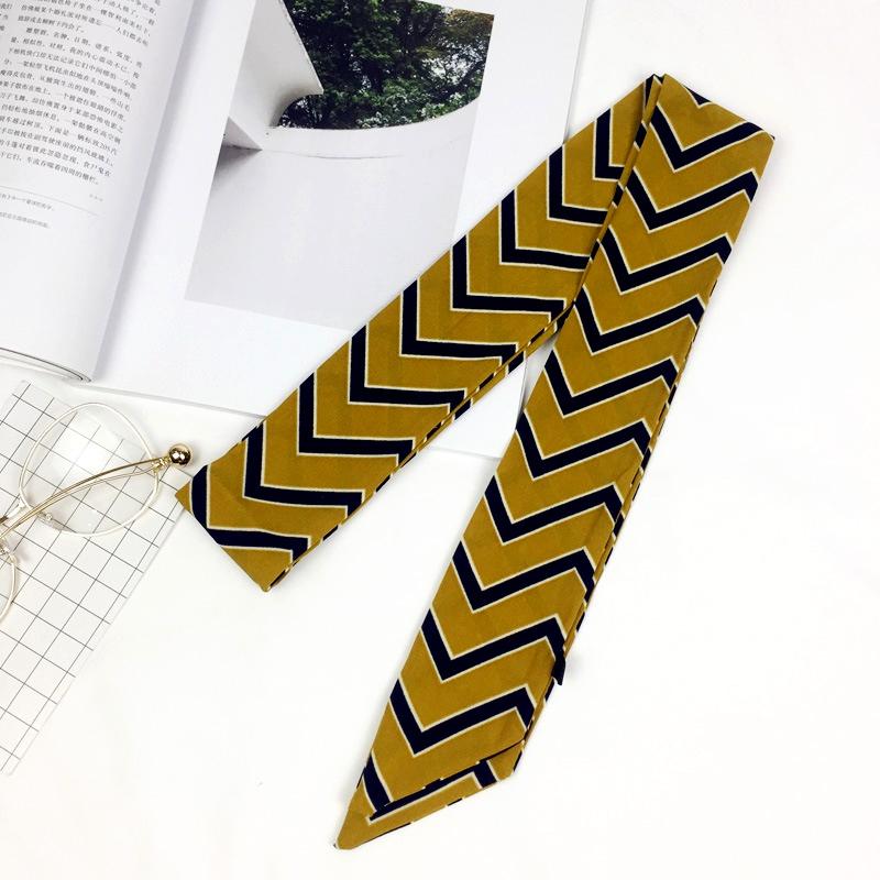 Alloy Fashion  Scarf  (Yellow strip) NHMN0101-Yellow-strip