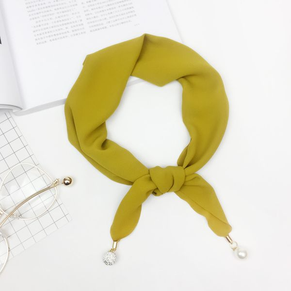 Alloy Fashion  Scarf  (yellow) NHMN0119-yellow