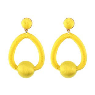 Cloth Fashion Geometric earring  (yellow) NHJQ10790-yellow's discount tags