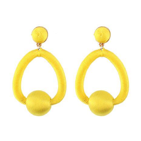 Cloth Fashion Geometric earring  (yellow) NHJQ10790-yellow's discount tags