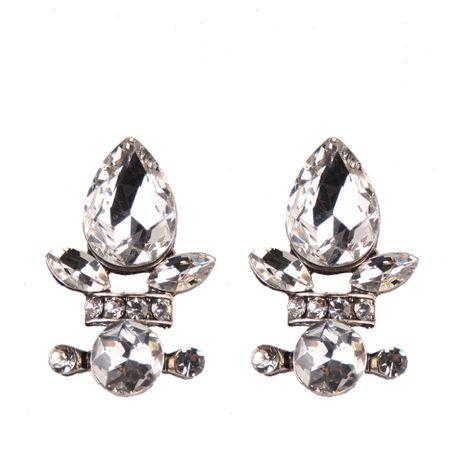 Imitated crystal&CZ Fashion Flowers earring  (white) NHJQ10797-white's discount tags