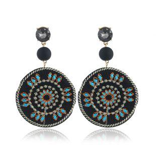 Cloth Fashion Geometric earring  (black) NHNZ0946-black's discount tags