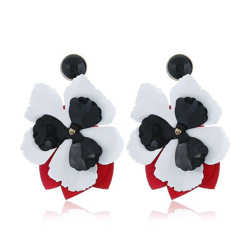 Alloy Fashion Flowers earring  (white) NHNZ0948-white
