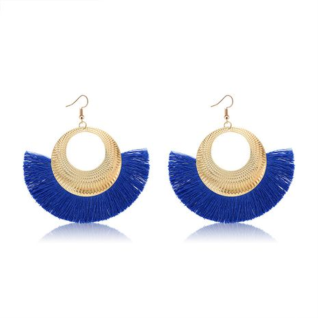Alloy Bohemia Tassel earring  (61189550 royal blue) NHXS1838-61189550-royal-blue's discount tags