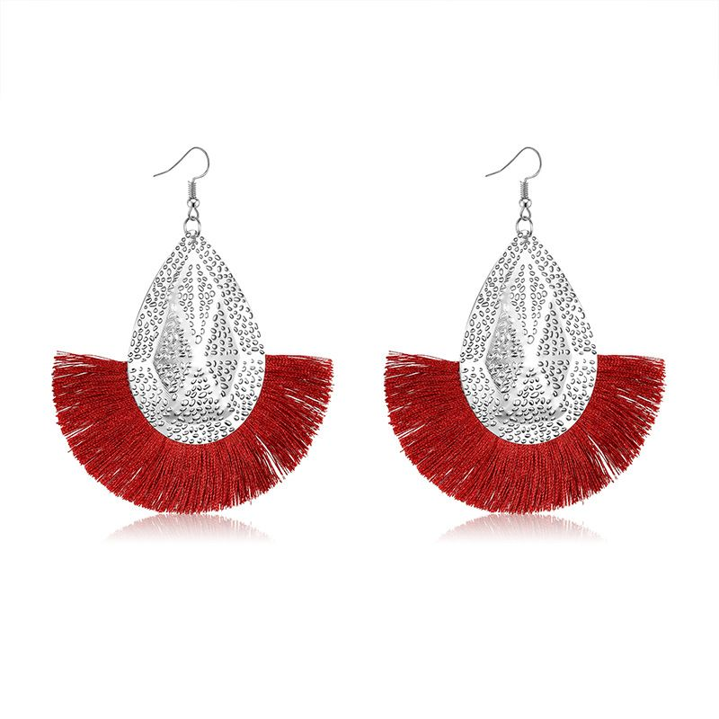 Alloy Bohemia Tassel earring  61189553 wine red NHXS184361189553winered