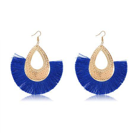 Alloy Bohemia Tassel earring  (61189557 sapphire blue) NHXS1844-61189557-sapphire-blue's discount tags