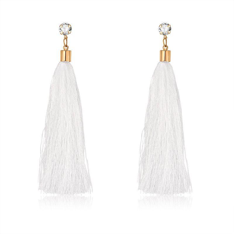 Alloy Bohemia Tassel earring  61189537 white NHXS185161189537white