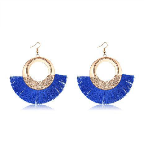 Alloy Bohemia Tassel earring  (61189558 sapphire blue) NHXS1855-61189558-sapphire-blue's discount tags