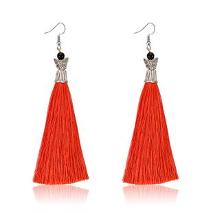 Alloy Bohemia Tassel earring  (61189560 red) NHXS1863-61189560-red's discount tags