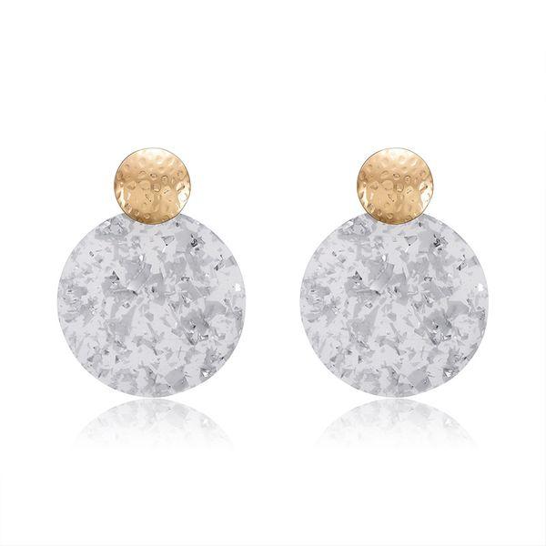 Acrylic Fashion Geometric earring  (61189517A) NHXS1877-61189517A