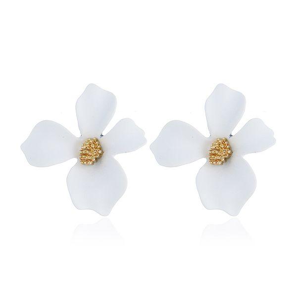 Alloy Korea Flowers earring  (white) NHNZ0965-white