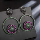 Copper Fashion Geometric earring  green NHLJ4141green