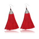 Alloy Bohemia Tassel earring  61189528 red NHXS184761189528red