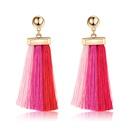 Alloy Bohemia Tassel earring  61189565 red light pink NHXS186561189565redlightpink