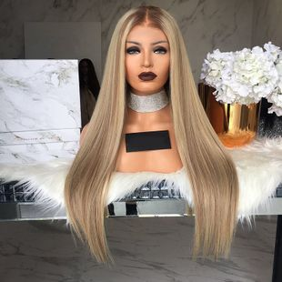 High-Temperature Fashion Straight wig  (black) NHNF0002-black's discount tags