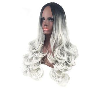 High-Temperature Fashion Wavy wig  (Black gradient alloy ash) NHNF0028-Black-gradient-alloy-ash's discount tags