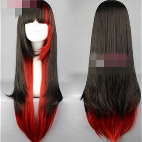 High-Temperature Fashion  wig  (Black + red gradient) NHNF0029-Black-red-gradient's discount tags