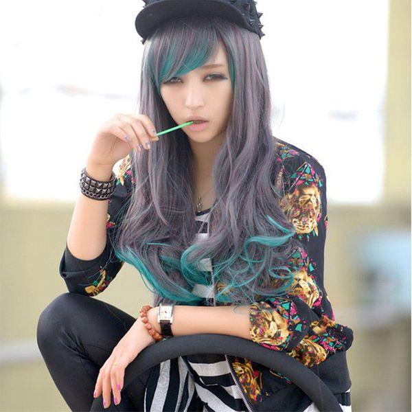 High-Temperature Cosplay Wavy wig  (Photo Color) NHNF0055-Photo-Color