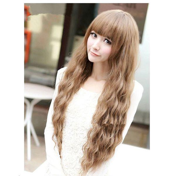 High-Temperature Natural Wavy wig  (Linen) NHNF0056-Linen
