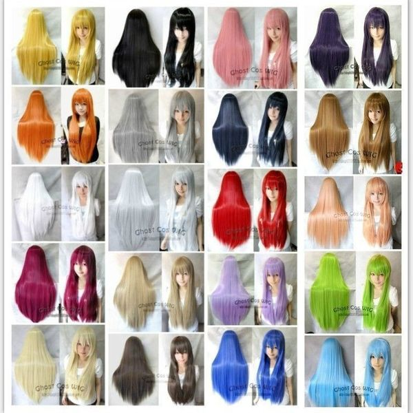 High-Temperature Cosplay Straight wig  (pure white) NHNF0071-pure-white