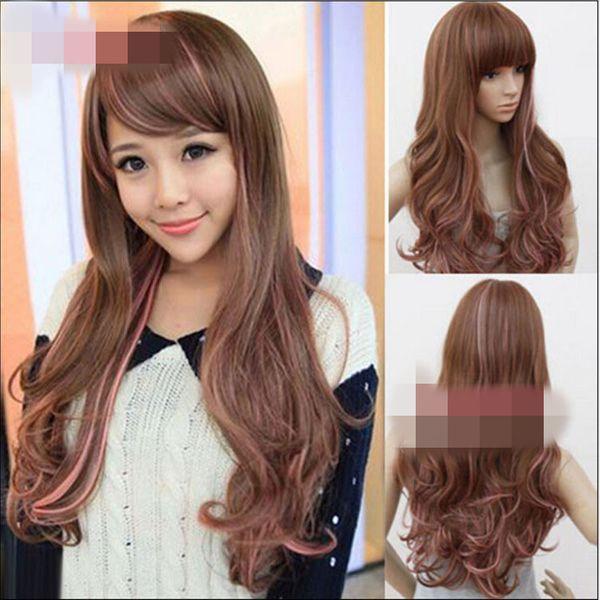 High-Temperature Cosplay Wavy wig  (Gradient pink) NHNF0087-Gradient-pink