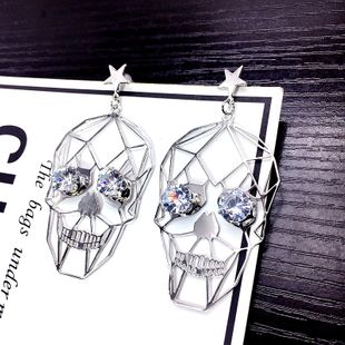 Cloth Fashion Skeleton Skull earring  (Alloy) NHSK0444-Alloy's discount tags