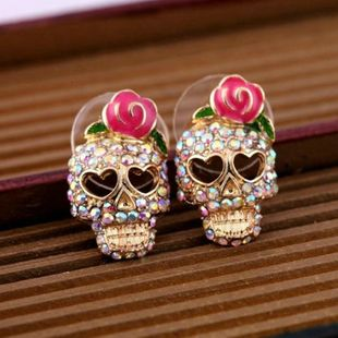 Alloy Fashion Skeleton Skull earring  (Photo Color) NHSK0450-Photo-Color's discount tags