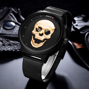 Alloy Fashion Skeleton Skull Men watch  (yellow) NHSK0488-yellow's discount tags