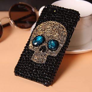 Alloy Fashion Skeleton Skull phone case  (Black and blue-iPhone7-8) NHSK0491-Black-and-blue-iPhone7-8For iPhone7's discount tags