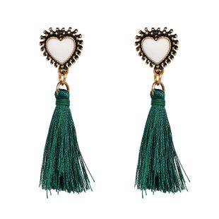 Cloth Fashion Sweetheart earring  (green) NHJJ5215-green's discount tags