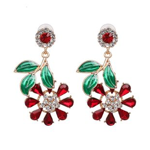 Alloy Fashion Flowers earring  (red) NHJJ5221-red's discount tags
