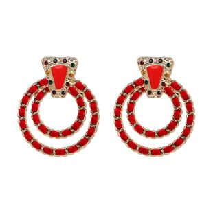 Alloy Fashion Geometric earring  (red) NHJJ5223-red's discount tags