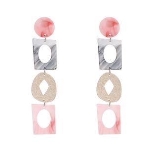 Plastic Fashion Geometric earring  (red) NHJJ5224-red's discount tags