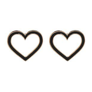 Alloy Fashion Sweetheart earring  (black) NHJJ5225-black's discount tags