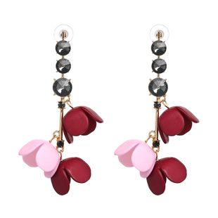 Alloy Fashion Flowers earring  (red) NHJJ5227-red's discount tags