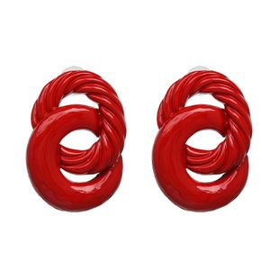 Alloy Fashion Geometric earring  (red) NHJJ5229-red's discount tags